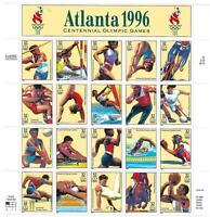 Scott 3068 - 32 Cent Atlanta Summer Olympics Mini Sheet of 20 MNH CV $27.00