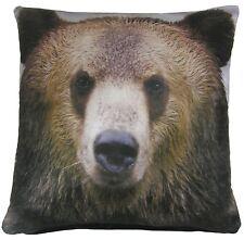 """Relleno marrón de oso Terciopelo almohada cojín de 17 """" - 43cm"""