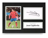 Joan Capdevila Signed A4 Photo Display Spain Autograph Memorabilia + COA