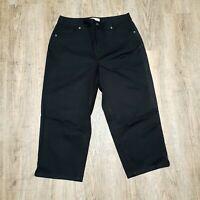 Talbots  Women's Casual Capri Pants ~ Sz 4P~ Black ~ Stretch