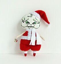 Skeleton Santa Claus doll haunted Christmas decoration Creepy zombie plush toy