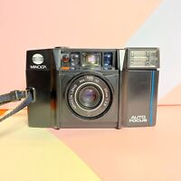 Minolta af-s Near Perfect! Point & Shoot 35mm Film Camera 35mm F/2.8 Lens Lomo