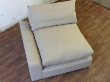 LOAF.COM CUDDLEMUFFIN SINGLE SEAT  OATMEAL/BISCUIT  LINEN LEFT ARM - RRP £1145