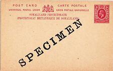 "SOMALILAND: 1917 1A Carmine on Buff postal card ""SPECIMEN""-H&G#2"