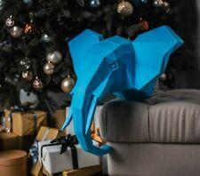 PaperCraft ELEPHANT 3D kit Low Poly PaperCraft 3D Origami DIY Paper Sculpture