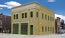 2-Bay Fire Station HO Building Kit - Walthers Cornerstone #933-4022
