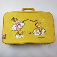 Care Bears Yellow Luggage Suitcase Getting There Is Half The Fun Vintage