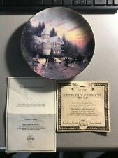 Thomas Kincade's Yuletide Memories The Magic of Christmas Collector Plate