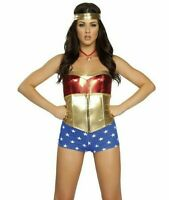 COMIC BOOK HEROINE S/M Roma Superhero Wonder Woman Justice League Costume 4213