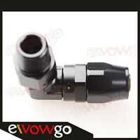 "10AN AN10 AN-10 To 1/2"" NPT 90 Degree Swivel Hose End Fitting Adaptor Black"