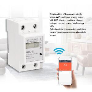 Contatore di energia intelligente Wifi su guida Din monofase W6J2