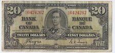Canada 20 dollars 1937 K/E 6424262 Coyne Towers, George VI