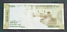India - Error- 500 Rs - Partial printing on reverse side - Insufficient Ink-UNC