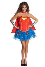 Womens Sexy WONDER WOMAN HERO COMIC CARTOON Fancy Dress Costume Outfit
