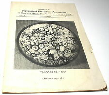 RARE 1954 PAPERWEIGHT COLLECTORS ASSOCIATION BULLETIN VOL 1 #2  OCTOBER 1954