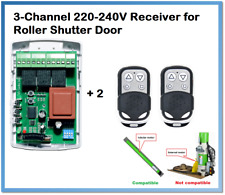 Garage Roller Shutter Door Receiver Box Fixed/Rolling code 433.92MHz. 220-240V