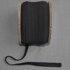 Gummiband Gummilitze gewebt schwarz 1,5 cm breit Länge 1 m