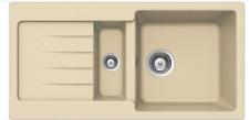 PYRAMIS Kücheneinbauspüle 86x43,5 Küchenspüle Spüle Einbauspüle Granitspüle