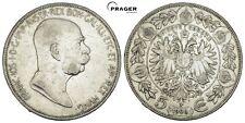 PRAGER: Österreich Franz Josef I, 5 Kronen 1909 [1050]