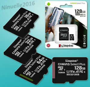 Kingston Micro SD 16GB 32GB 64GB 128GB Class 10 100MB/s SPEICHERKARTE UHS-I SDXC