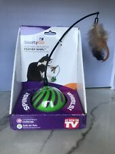 New listing SmartyKat Feather Spin Whirl Erratic Electronic Motion Ball Cat Toy Opened New