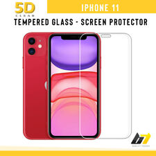 For iPhone 11 Tempered Glass Screen Protector Clear 5D Full Screen Film Cover