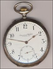IWC Scafusia Taschenuhr 1910  Silber  Top !