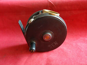 """A GOOD VINTAGE 3 1/2"""" DINGLEY BUILT PERFECT PATTERN FLY REEL FOR ALEX MARTIN"""