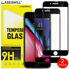 For iPhone SE 8 7 6S 6 Plus Caseswill FULL COVER Tempered Glass Screen Protector
