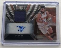 2019-20 Ty Jerome Panini Select Rookie Patch Auto #141/199. RPA RC Suns/Thunder.