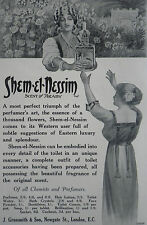 Shem El Nessim Scent Of Araby J Grossmith & Son 1912 Advertisement Ad 8596