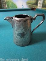 1890s J.H. POTTER SHEFFIELD EPNS silver plate engraved milk jug[a*4met]