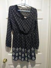 black /white long sleeved dress  size Large