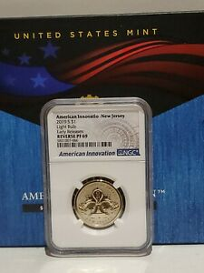 2019 S $1 NGC Reverse PF69 New Jersey Light Bulb American Innovation