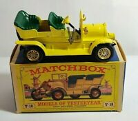 MATCHBOX LESNEY MODELS OF YESTERYEAR 1:45 SCALE 1904 SPYKER TOURER Y-16 - BOXED