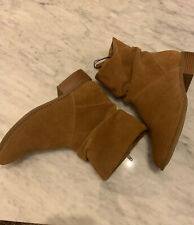 New M&S Leather Upper Size 7.5 Ankle Length Camel Brown Boots RRP£59