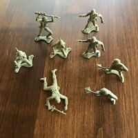 Vintage Green Army Men Plastic Toy Soldiers Lot of 8 M