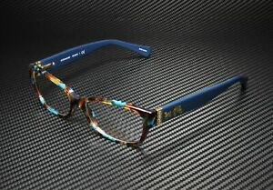 COACH HC6078 5337 Teal Confetti Teal Demo Lens 52 mm Women's Eyeglasses