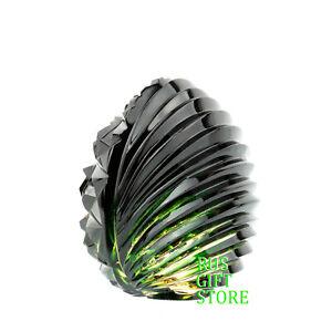 Green Crystal Glass Egg Top Quality Glass Souvenir Handmade RusGiftStore