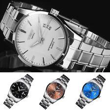 Fashion Stainless Steel Mens Army Military Sport Date Analog Quartz Wrist Watch