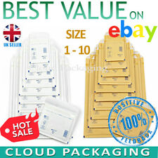 More details for gold white arofol genuine bubble jiffy padded envelopes mailers bags all sizes