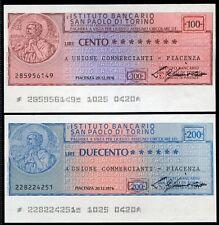 IST.BANCARIO SAN PAOLO TORINO 1976 COMMERCIANTI PIACENZA/PAPER MONEY FDS/UNC