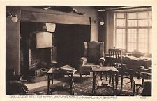 WENDOVER BUCKINGHAMSHIRE UK THE RED LION HOTEL OLD FIRE PLACE ROOM POSTCARD