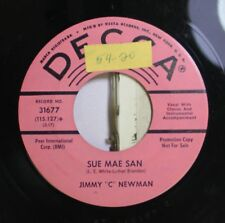 """Country Promo 45 Jimmy """"C"""" Newman - Sue Mae San / You'Re Still On My Mind On Dec"""