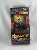 1994 CONAN II ALL CHROMIUM COMIC IMAGES COLLECTOR CARDS (36) PACK SEALED BOX