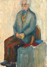 Vintage expressionist man portrait oil painting