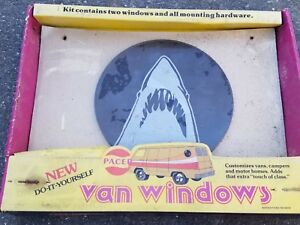 Vintage 1970's Pacer Shark Jaws Porthole Van Window Dodge Ford Chevy HIPPIE