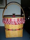 Longaberger 1998 Winter Wishes Holiday Hostess Basket Set