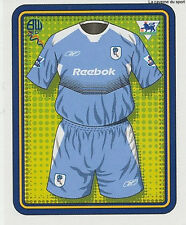 N°118 SHIRT MAILLOT BOLTON WANDERERS STICKER MERLIN PREMIER LEAGUE 2005