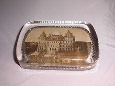 RARE! VTG Antique Capitol Albany, NY Glass Souvenir Paper Weight